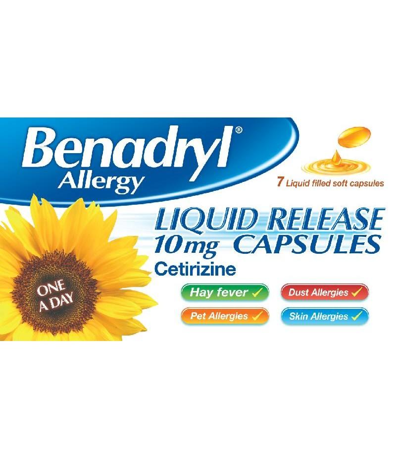 BENADRYL ALLERGY liquid release capsules 10mg  7