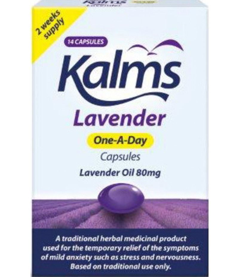 KALMS herbal sedative lavender one-a-day capsules  14