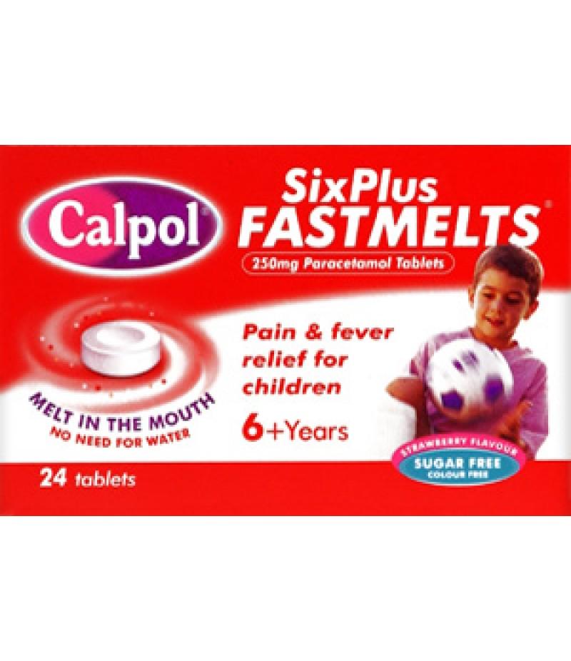 CALPOL Fast Melts 6+ tablets 250mg  24