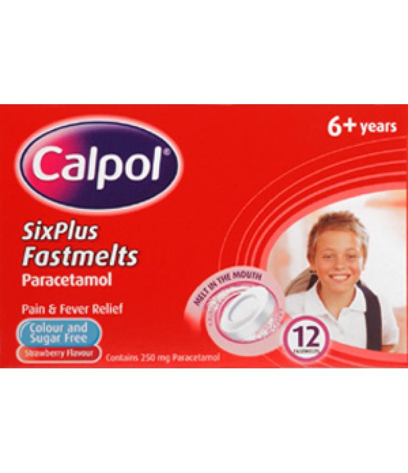 CALPOL Fast Melts 6+ tablets 250mg  12