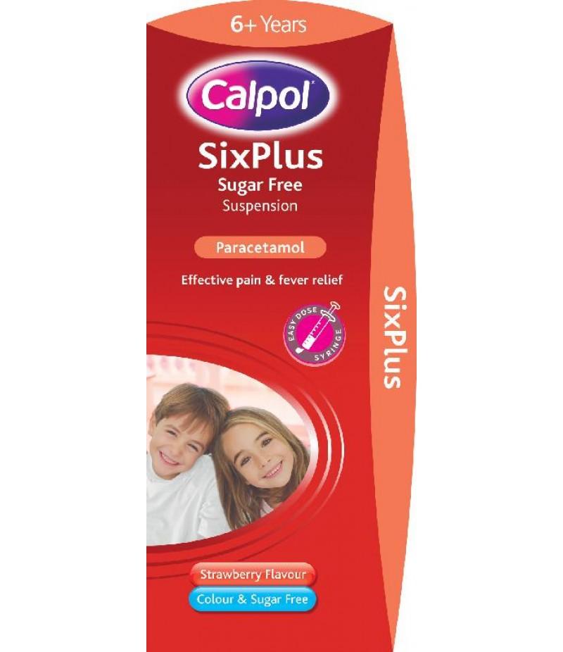 CALPOL SIX PLUS suspension sugar-free 250mg/5ml 200ml