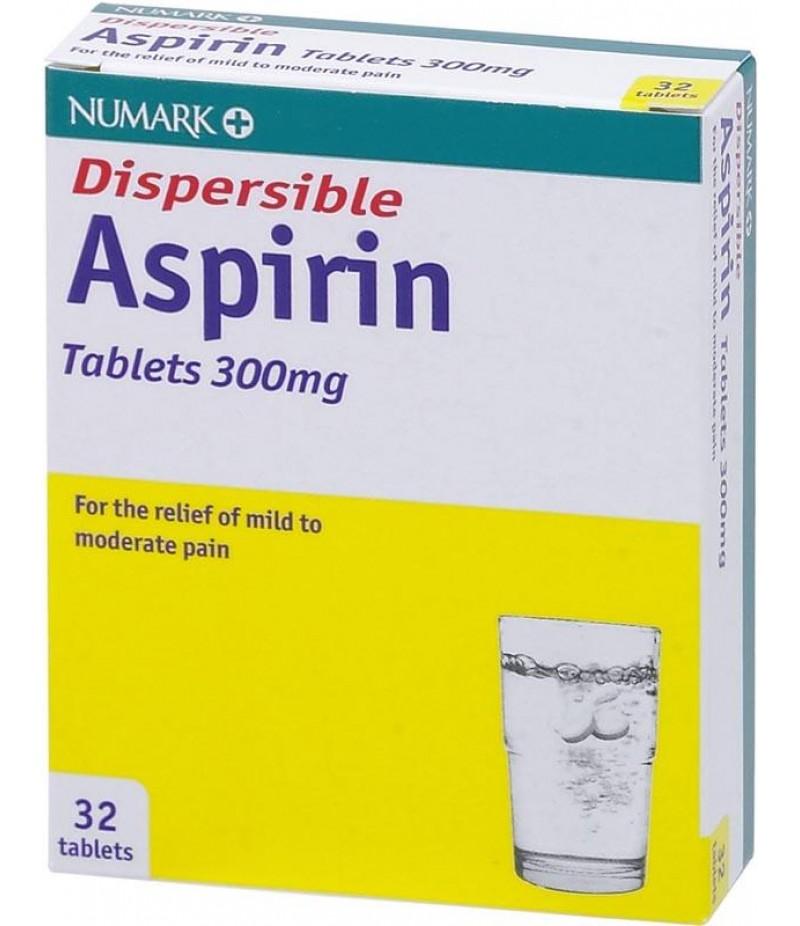 NUMARK OTC medicines aspirin dispersible tablets 300mg  32