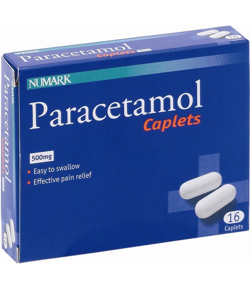 NUMARK OTC medicines paracetamol caplets 500mg  16