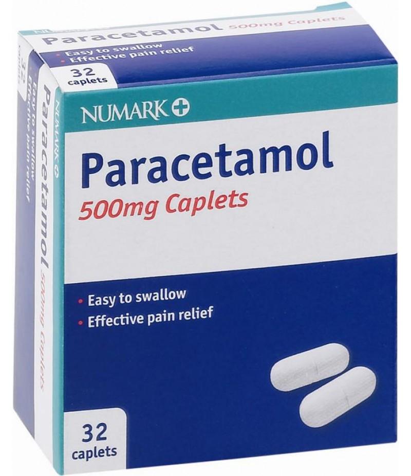 NUMARK OTC medicines paracetamol caplets 500mg  32