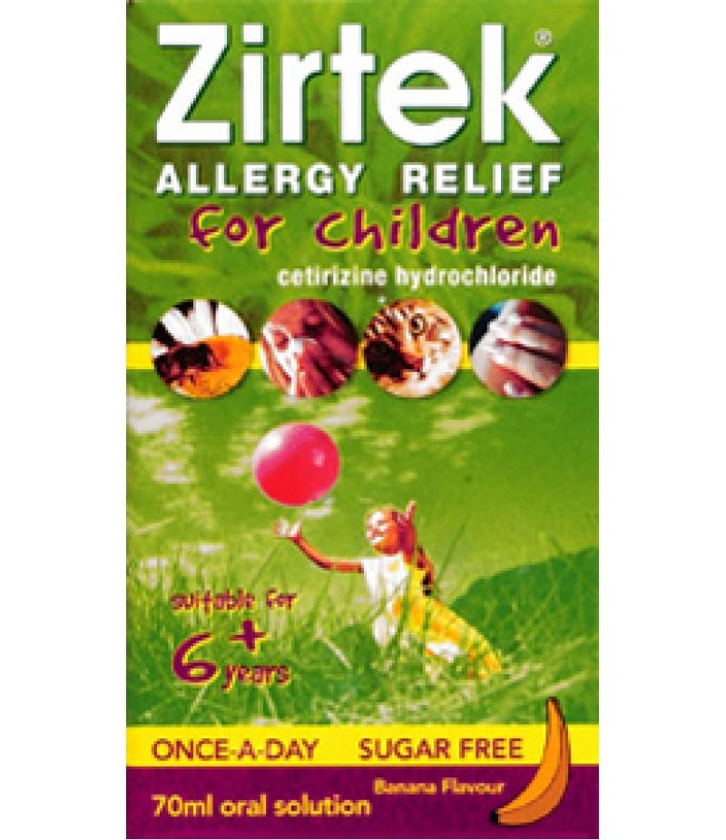 ZIRTEK allergy solution sugar-free 1mg/ml 70ml