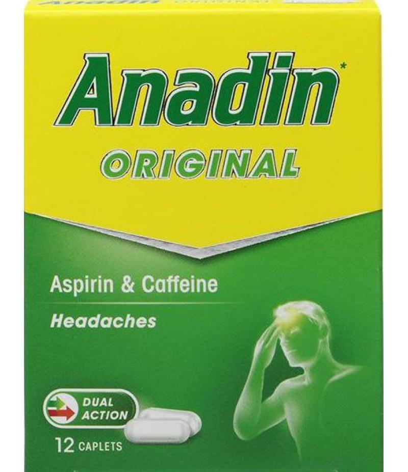 ANADIN ORIGINAL caplets 325mg/15mg  12