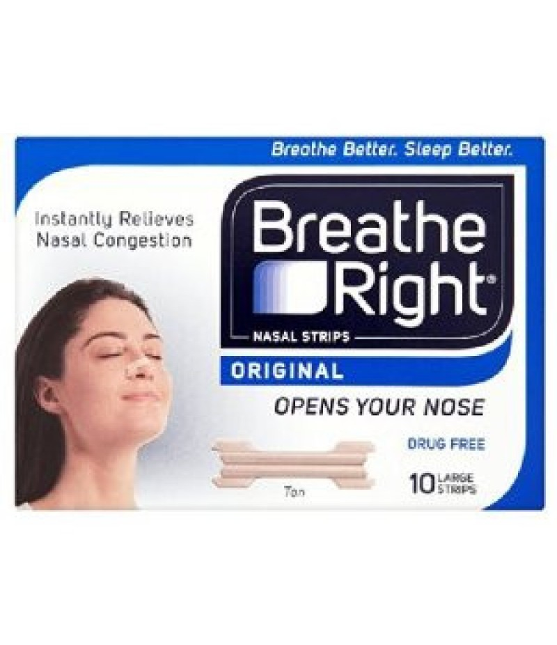 BREATHE RIGHT nasal strips natural  large 10