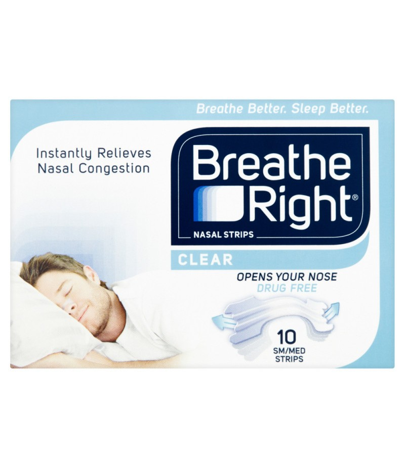 BREATHE RIGHT nasal strips natural  small/medium 10
