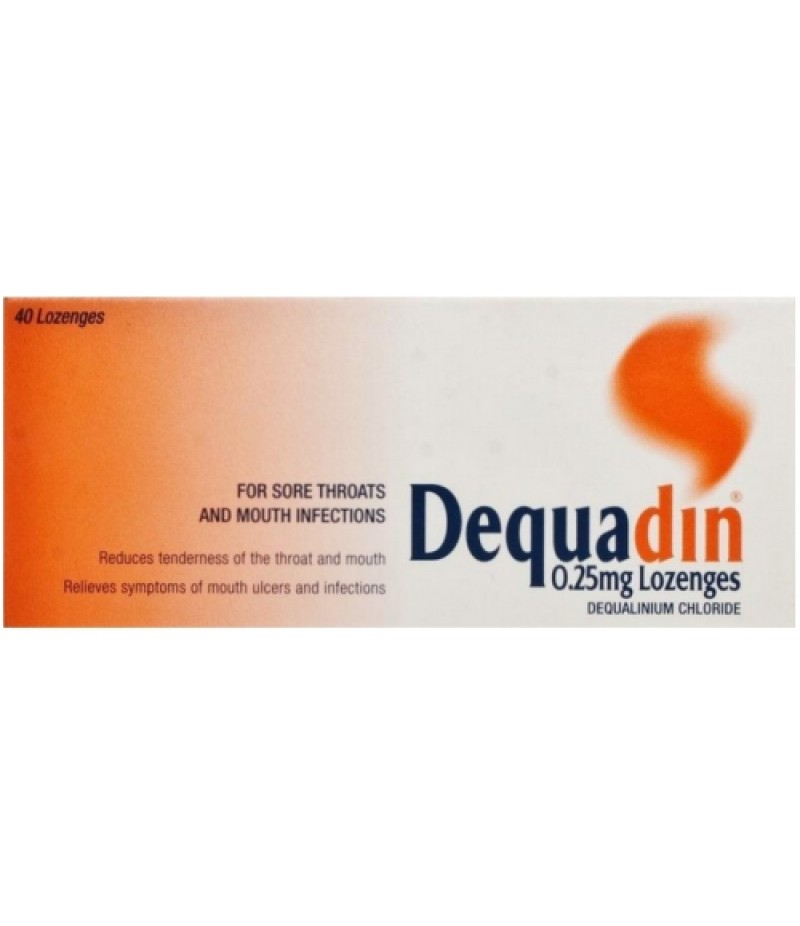 DEQUADIN lozenges 0.25mg  40