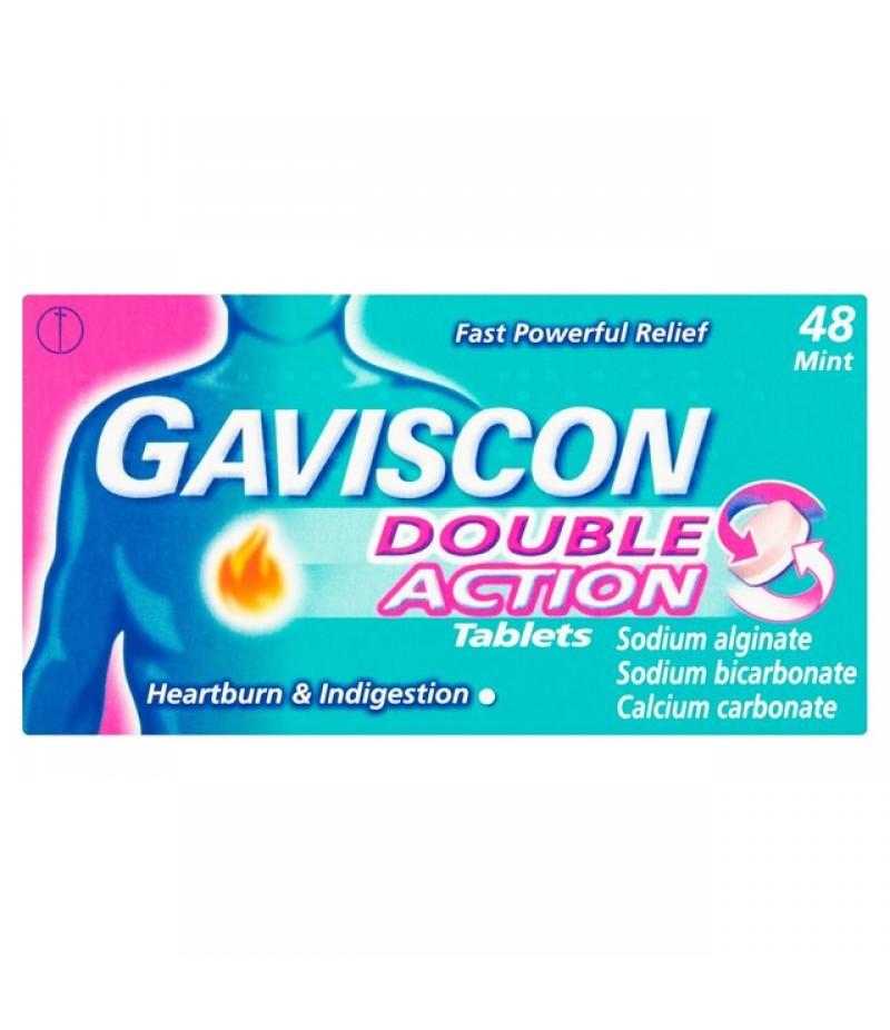 GAVISCON DOUBLE ACTION tablets 187.5mg/250mg/106.5mg  48