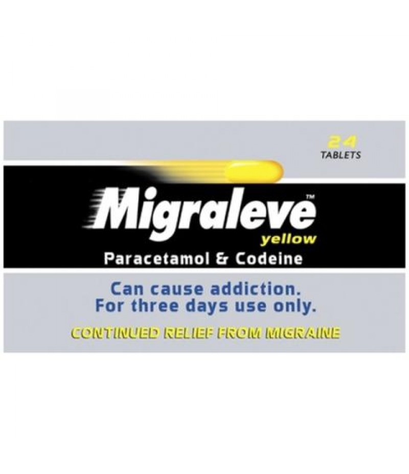 MIGRALEVE tablets Yellow pack 8/500mg/8mg/500mg  24