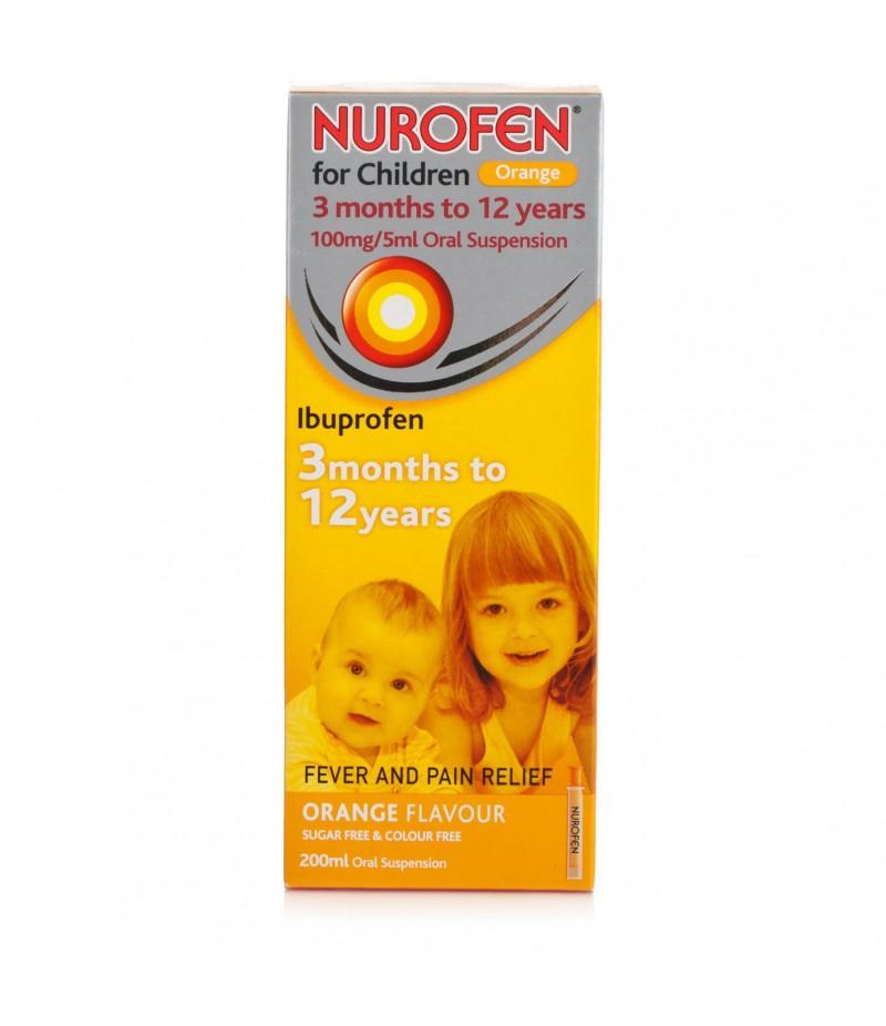 NUROFEN FOR CHILDREN suspension with syringe orange s/f 200ml