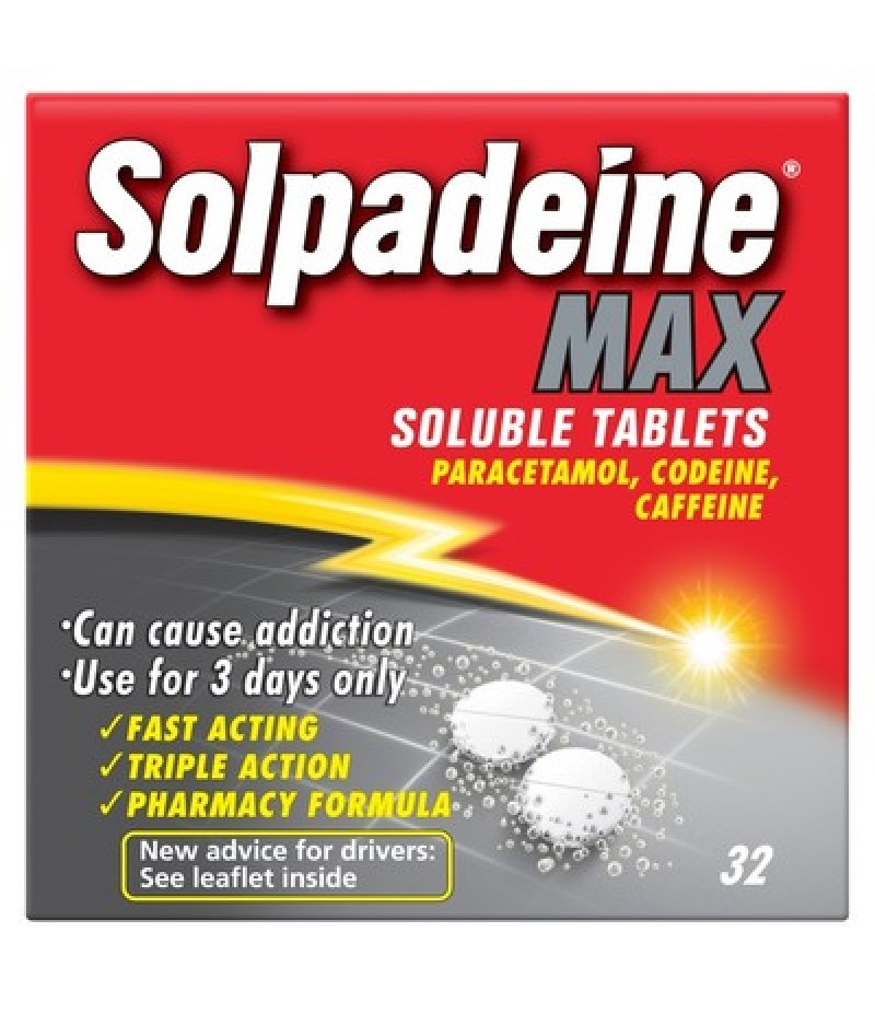 SOLPADEINE MAX soluble tablets 12.8mg/500mg  32