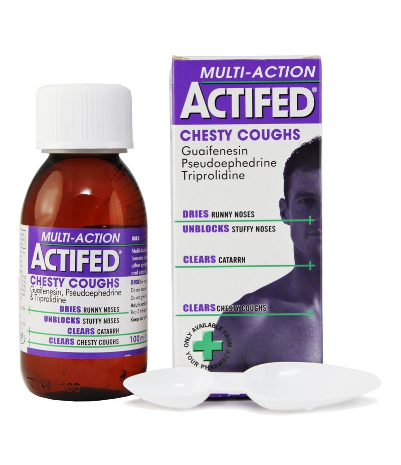ACTIFED multi action chesty 100mg/5ml/30mg/5ml/1.25mg/5ml 100ml