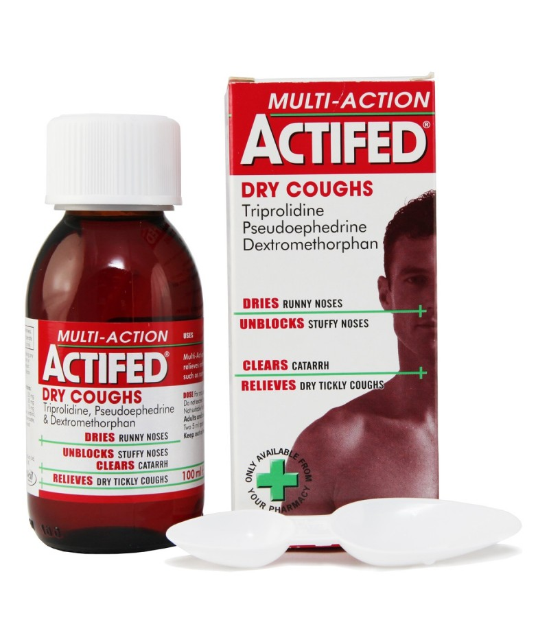 ACTIFED multi action dry 10mg/5ml/30mg/5ml/1.25mg/5ml 100ml