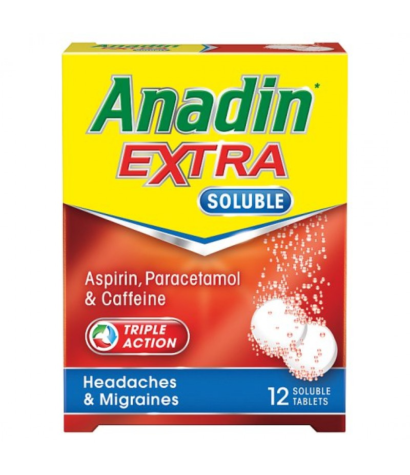 ANADIN EXTRA SOLUBLE tablets 300mg/45mg/200mg  12