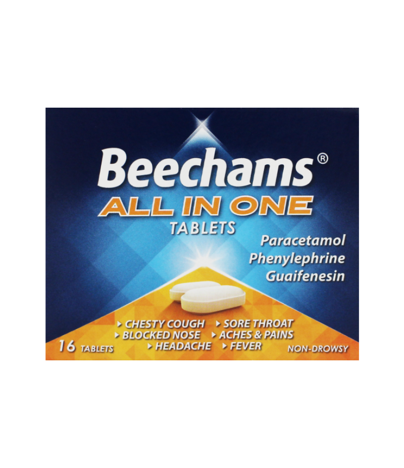 BEECHAMS ALL-IN-ONE tablets non-drowsy 100mg/250mg/5mg  16