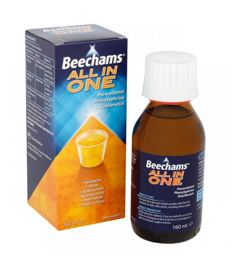 BEECHAMS ALL-IN-ONE liquid 200mg/500mg/10mg 160ml