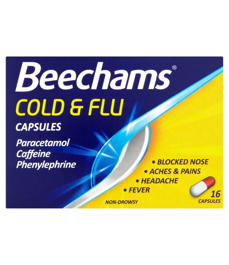 BEECHAMS cold & flu capsules capsules   16