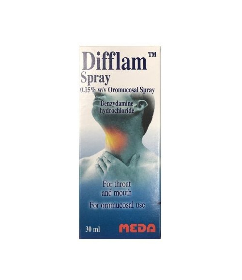 DIFFLAM throat & mouth spray 0.15% w/v 30ml