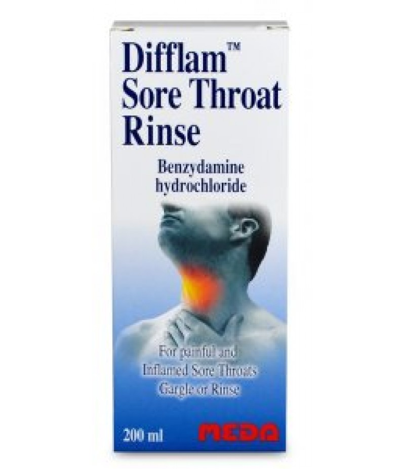 DIFFLAM sore throat rinse 0.15% w/v 200ml