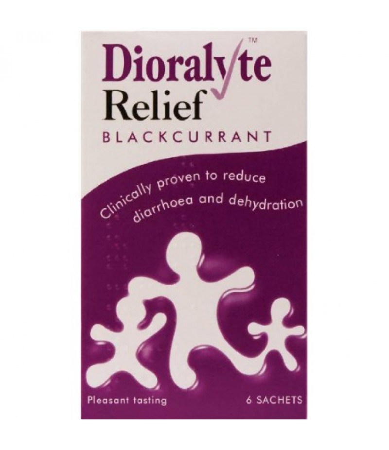 DIORALYTE RELIEF oral rehydration therapy sugar-free sachets blackcurrant 300mg/350mg/580mg  6