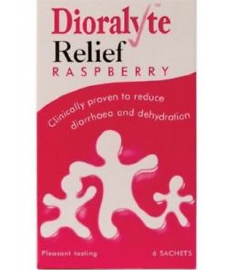 DIORALYTE RELIEF oral rehydration therapy sugar-free sachets raspberry 300mg/350mg/580mg  6