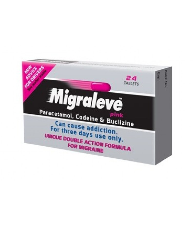 MIGRALEVE tablets Pink pack 6.25mg/8mg/500mg  24