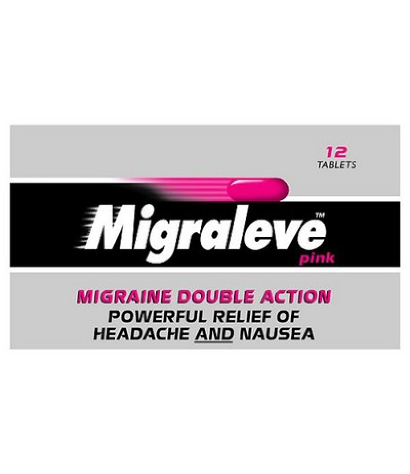 MIGRALEVE tablets pink pack 6.25mg/8mg/500mg  12
