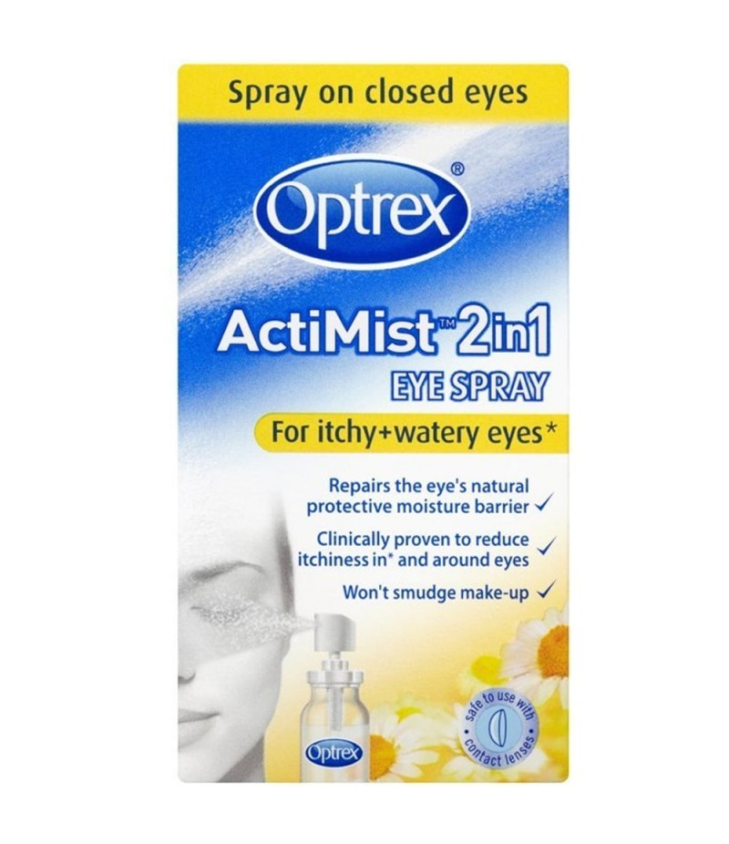 OPTREX eye spray actimist 2in1 itchy watery 10ml