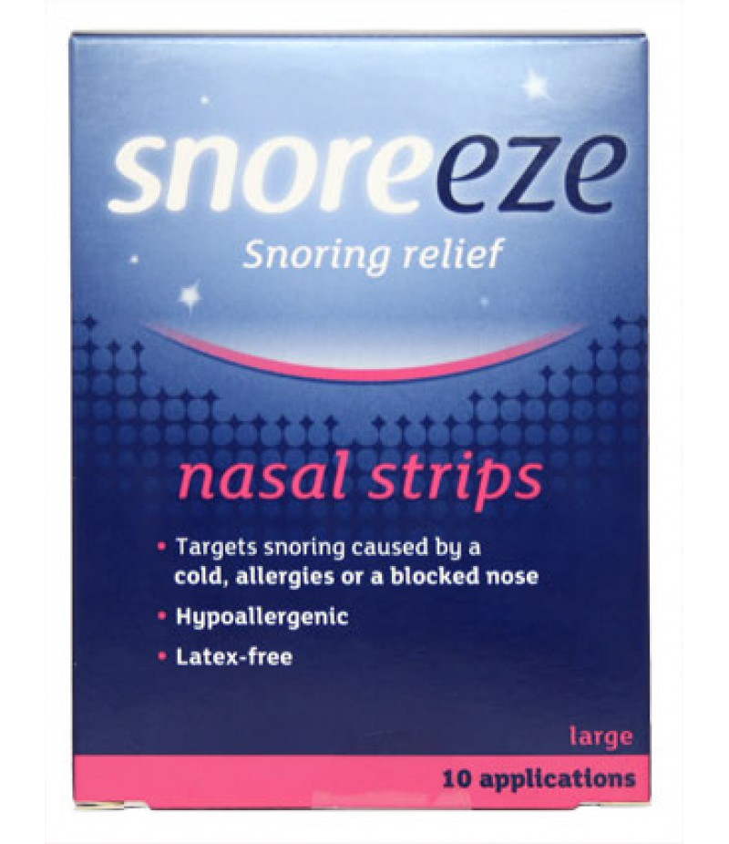 SNOREEZE nasal strips large 10