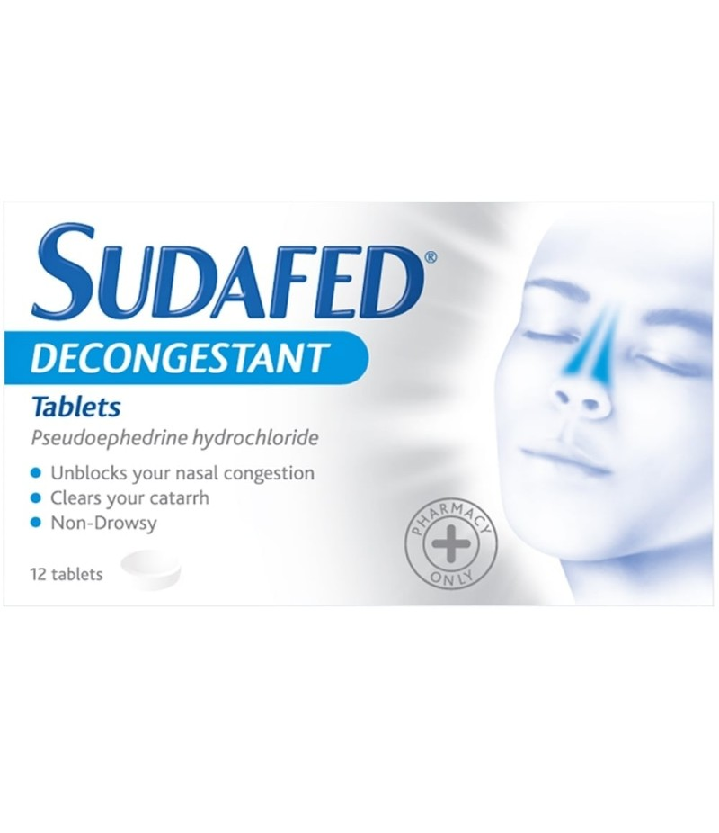 SUDAFED blocked nose capsules 12mg  12