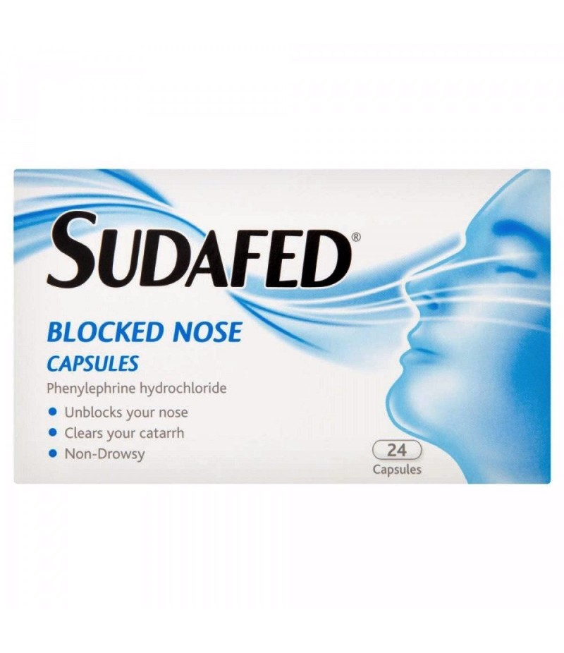 SUDAFED blocked nose capsules 12mg  24